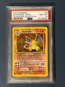 2002 Pokemon Card WOTC Legendary Collection Charizard Rare Holo 3/110 PSA 8 NM/M