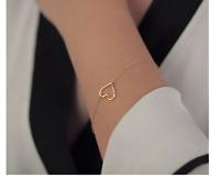 Filigrane Armkette Herz silber gold Armband edel Style verstellbar Heart Love