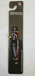 New England Patriots NFL Breakaway Cat Collar Adjustable with Bell Pets First