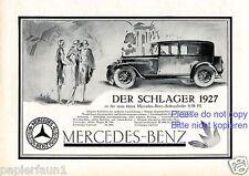 Mercedes Benz Sechs Zylinder Reklame von 1927 Damen Werbung ad