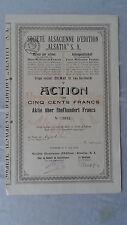Societe Alsacienne D'Edition Alsatia S.A.-Aktie über 500 Francs-1924-Colmar
