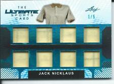 2019 Leaf Ultimate Sports Card JACK NICKLAUS 1/5 Platinum 8X Used Relic #TUC-13