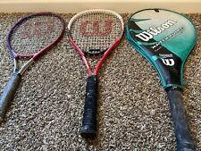 Set Of 3 wilson tennis racket