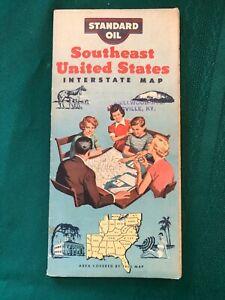 1953 STANDARD OIL ROAD MAP FOR SOUTHEAST U.S.