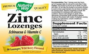 ZINC with ECHINACEA & VITAMIN C, WILDBERRY Flavour 3in1 IMMUNE BOOSTER & SUPPORT