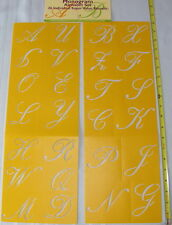 Delta Monogram Alphabet Set 26 Individual Super Value Stencils