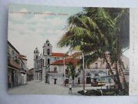 VERY RARE Antique 1909 Havana Cuba Postcard, Empedrado St, Portland, Maine