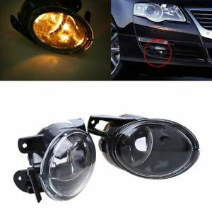 2PCS Fog Lights Lamps Clear Halogen Fits VW Volkswagen Passat 3C B6 2006-2010