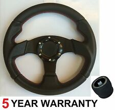 SPORTS STEERING WHEEL 280MM AND BOSS KIT HUB FIT PORSCHE BEETLE GOLF JETTA