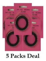 5 AirTite I38 BLACK Ring Capsules For 38mm Coins Crystal Clear Safe Storage NEW
