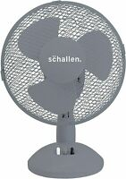 Schallen Electric Portable Air Cooling GREY Small 9'' inch Desktop Desk Fan NEW