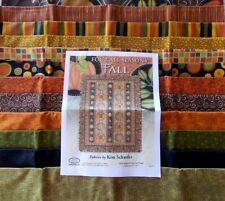 """For All Seasons Fall Quilt Fabric Kit Finished Size 71"""" x 92"""" Out Of Print"""