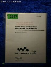 Sony Bedienungsanleitung NW MS9 Network Walkman (#2997)
