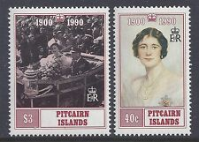 1990 PITCAIRN ISLANDS QUEEN MOTHER 90th BIRTHDAY SET OF 2 FINE MINT MNH/MUH