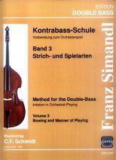 Franz Simandl Kontrabaß-Schule Teil I Band 3 Strich- und Spielarten Noten