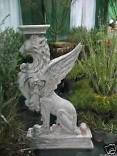 4 1/2 ft Fiberglass GRIFFIN LION outdoor garden statue