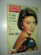 LECTURES D'AUJOURD'HUI 260 (11/1/5)SOPHIA LOREN LEO FERRE GILBERT BECAUD CHAPLIN