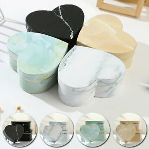 3pcs Gift Box Marbled Flower Heart Shaped Container Packaging Wedding Decor