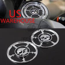 Motorcycle Skull Speaker Trim Grill Cover For Harley Touring FLHT FLHTC FLHX US