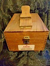 Vintage Hand crafted Kiwi Shoe Shine Valet with Polish, Brushes, Leather Lotion