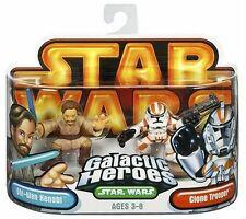 Star Wars Galactic Heroes -- Obi-Wan and Clone Trooper -- Orange Card