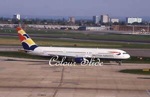 British Airways Boeing 767-336 G-BZHA, LHR 5.01, Colour Slide, Aviation Aircraft