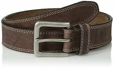 NEW Timberland Mens 35Mm Boot Leather Belt Dark Brown 38 FREE SHIPPING