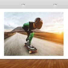 Extreme Sports Skateboarding Jump  3D Mural Decal Wall Sticker Poster Vinyl S295