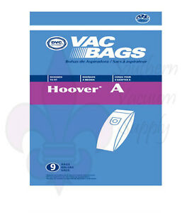 Hoover Type A Upright Vacuum Bags---9 Pack