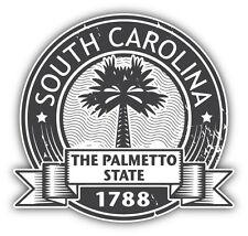 """South Carolina State United States Grunge Car Bumper Sticker Decal 5"""" x 5"""""""