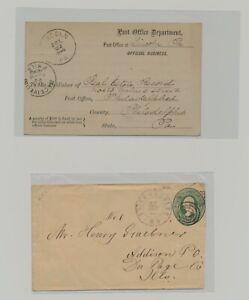 US - 2 Used Postal Stationeries Lot # 142