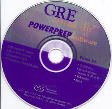 Gre General Test PowerPrep Software Cd