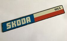 Skoda Super Estelle 105S Rear Badge Emblem Metal Logo 105 S Classic Car
