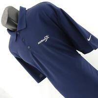 Mens Nike Golf Dri Fit Navy Blue Performance Tennis Polo Shirt Size XXL 2XL