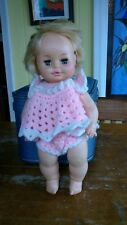 VINTAGE 1971 HORSMAN 15 inch DRINK WET SLEEPY EYES DOLL very rare nice condition