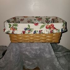 Longaberger Medium Storage Solutions Basket, Protector, Fruit Medley Liner 2004