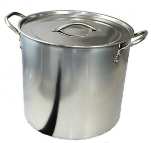 Stainless Steel Large Stock Pot Boiling  Cooking Pot 15 L Minor Dents/ Scratches
