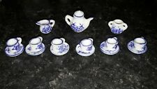 Dolls house ceramic tea set.