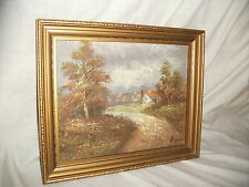 VINTAGE OLD OIL PAINTING / SIGNED BRUCE
