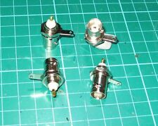 BNC femail solder type bulkhead receptacle ONE  NEW FOR RF USE HF UHF HAM RADIO