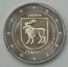 2 Euro Lettland 2018 Zemgale / Semgallen unz.