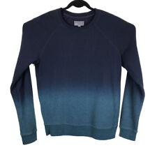Vince Mens Blue Dip Dye Cotton Sweatshirt Sweater Size Medium