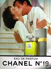 Publicité advertising 1989 Eau de Parfum Chanel N°19