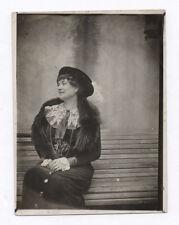 PHOTO Femme Mode Chapeau Fourrure Fur Écharpe Étole Tour de cou Vers 1910 Bijou