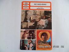 CARTE FICHE CINEMA 1983 RUE CASES NEGRES Garry Cadenat Darling Legitimus D.Seck
