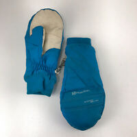 Vintage Grandoe women large teal mittens ski glv1