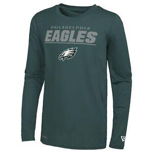 New Era NFL Men's Philadelphia Eagles Stated Dri-Tek Performance Long Sleeve Tee
