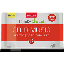 Maxell CD-R Discs Music Spindle Audio Only Recordable Blank Media 50-pack 625156