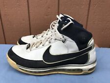 Nike Airmax Force Elite Basketball Shoes Mens US 13 316903 142 White Navy A2 5a53a1852