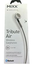 MIXX Tribute Air Bluetooth Wireless Earphones Headphones Hands Free - Grey | New